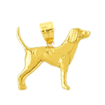 14kt gold english pointer pendant