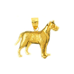 14k gold 20mm dog pendant