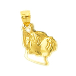 14k gold boxer face charm