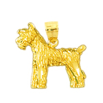14k gold 3d german schnauzer pendant