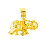 14k yellow gold circus elephant charm