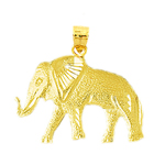 14k yellow gold elephant charm