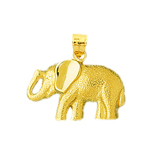 14k yellow gold elephant charm for charm bracelet