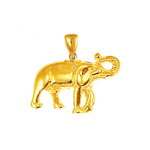 14k yellow gold elephant charm for animal charm bracelet