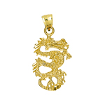 14k gold 3d serpent dragon charm
