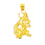 14k gold mythical dragon charm