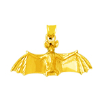 14k gold bat pendant