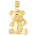 14k gold 17mm teddy bear charm