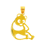 14k gold cut-out panda charm