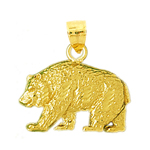 14k gold kodiak pendant