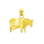 14k gold cow charm