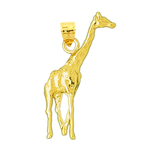 14kt yellow gold giraffe charm