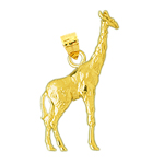 14 karat yellow gold giraffe pendant