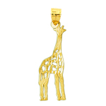 14 karat gold cut-out giraffe pendant