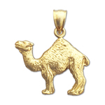 14k yellow gold camel charm
