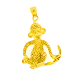 14k gold monkey pendant