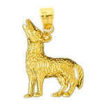 14k gold sly fox pendant