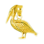 14k gold pelican charm