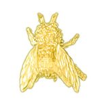 14k yellow gold fly charm