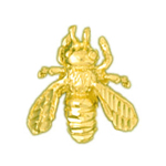 14k yellow gold bumble bee charm