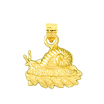 14k gold snail in shell charm