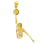 14k gold #5 jersey basketball pendant