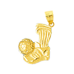 14k gold soccer ball & cleats charm