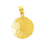 14k gold soccer ball charm