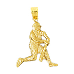14k gold baseball batter pendant