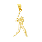 14k gold baseball batter charm