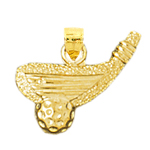 14k gold golf club and golf ball charm