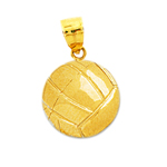 14k gold 3d volleyball charm