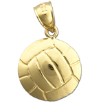 14k gold volleyball charm
