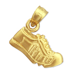 14k gold running shoe charm