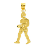 14k gold boxer body pendant