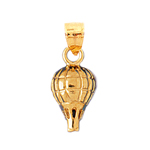 14k gold hot air balloon charm