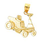 14k gold golf car charm