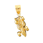 14k gold racing nascar car charm