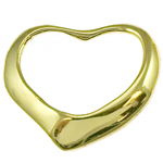 14k gold floating heart pendant