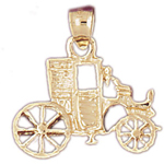 14k gold carriage pendant