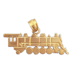 14k gold locomotive train charm