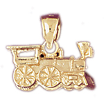 14k gold 3d locomotive train charm