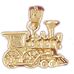 14k gold locomotive train engine charm
