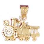 14k gold locomotive charm