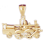 14k gold train engine pendant