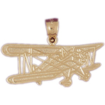 14kt gold cessna airplane pendant