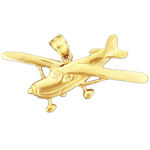 14 kt gold cessna airplane pendant