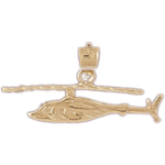 14k gold helicopter charm