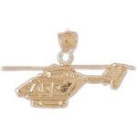 14k gold bell series helicopter pendant