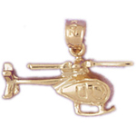 14k gold model md helicopter charm